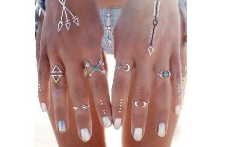 Aztec set prstenja 6 kom